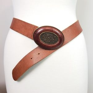 Fabio Corti Made in Italy Camel Leather Belt sz XL